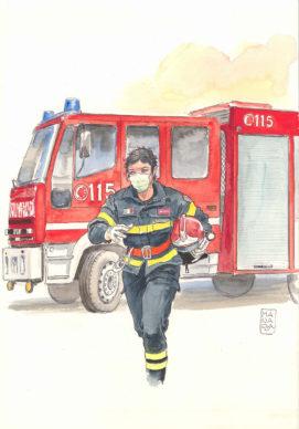 Milo Manara, Pompiera da Lockdown Heroes