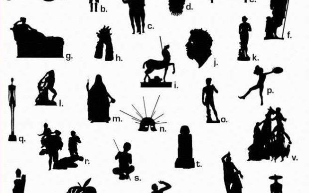 Un dettaglio dell'immagine che accompagna il quiz Silhouette d'arte lanciato dal MiBACT