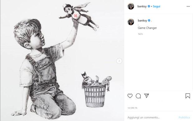 uno screenshot da instagram.com/banksy/
