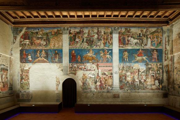 Ferrara, Palazzo Schifanoia, Salone dei Mesi - Francesco del Cossa Parete est (1469-70). Photo credit Henrik Blomqvist