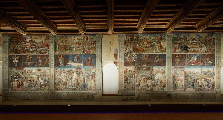 Ferrara, Palazzo Schifanoia,  Salone dei Mesi, parete nord - Maestro dagli occhi spalancati, Maestro dell'Agosto, Ercole de' Roberti (1469-70). Photo credit Henrik Blomqvist