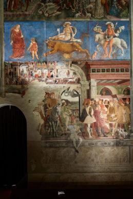 Ferrara, Palazzo Schifanoia, Francesco del Cossa, Aprile, 1469-70 - parete est. Photo Henrik Blomqvist