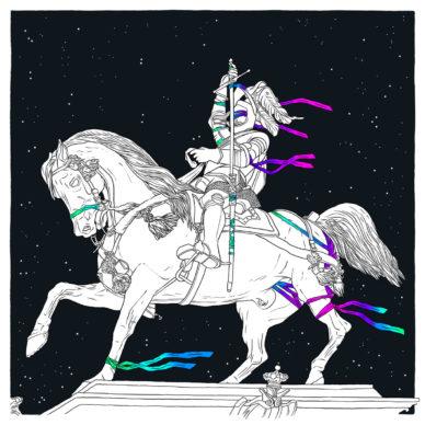 Statua Piazza San Carlo, un'illustrazione di Adam Tempesta. Courtesy l'artista