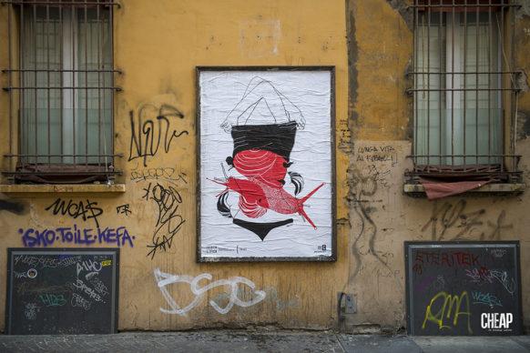 """To _ let per """"La lotta è FICA"""" un progetto di public art di CHEAP. Photo Michele Lapini"""
