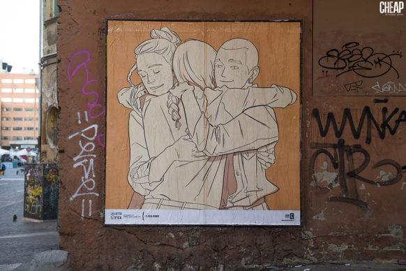 """Flavia Biondi per """"La lotta è FICA"""" un progetto di public art di CHEAP. Photo Michele Lapini"""
