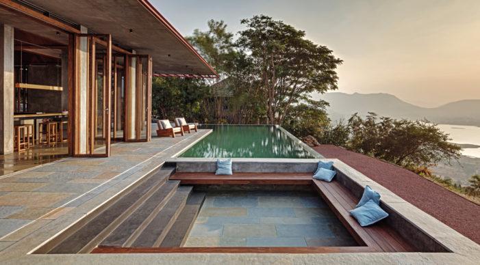 Retreat in the Sahyadris, Khosla Associates, Maharashtra, India, 2017. Image credit: Shamanth Patil J. Courtesy Khosla Associates (pages 128-129)