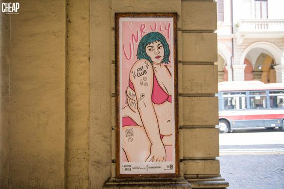 """Chiara La Scura per """"La lotta è FICA"""" un progetto di public art di CHEAP. Photo Michele Lapini"""