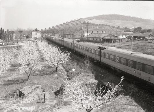 Elettrotreno ETR 300 Settebello in transito sulla linea Roma-Firenze (1963) - Foto Archivio Fondazione FS Italiane