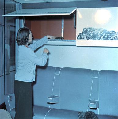 Elettrotreno ETR 300 Settebello, vano portabagagli (1952) - Foto Archivio Fondazione FS Italiane