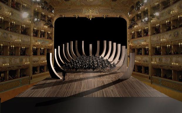 INSTALLAZIONE teatro Fenice venezia riapertura