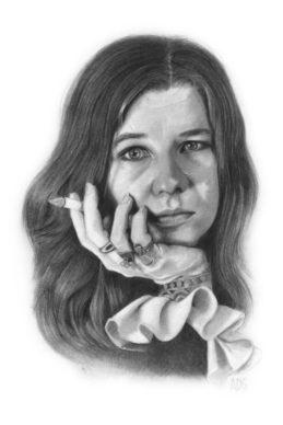 Janis Joplin - Alessandra Di Girolamo. Courtesy l'artista