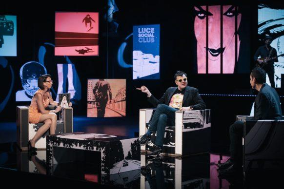 Massimiliano Parente, ospite dell'undicesima puntata di Luce Social Club