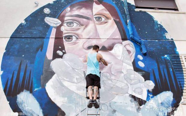 l'opera di Skan, Festival della Resilienza 2019, photo Ilaria Giorgi
