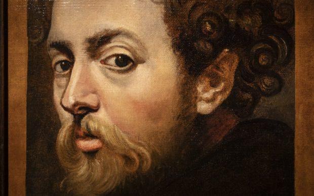 Rubens, Zelfportret, detail, ca. 1604, in langdurig bruikleen Rubenshuis, particuliere verzameling, foto Ans Brys