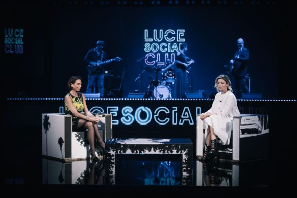 Sarah Felberbaum, ospite della decima puntata di Luce Social Club