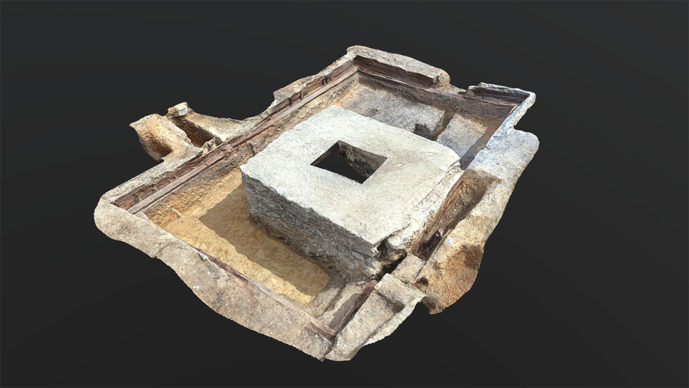 The Red Lion Stage 3D model still. Credit UCL Archaeology South-East