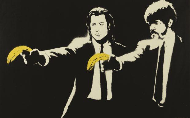 Banksy, Pulp Fiction, 2015, serigrafia su carta, 50 x 70 cm. Collezione privata