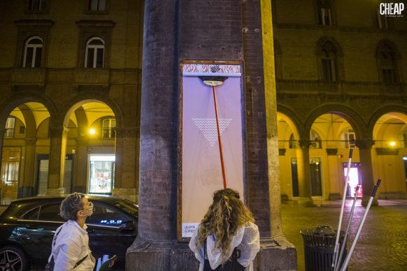 """""""La lotta è FICA"""" un progetto di public art di CHEAP. Photo Michele Lapini"""