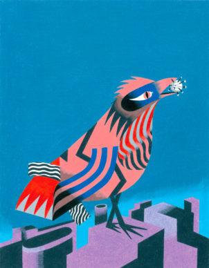 Una illustrazione di Antonio Pronostico per Jacobin Italia. Courtesy l'artista