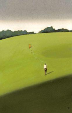 """La copertina di Manuele Fior per il libro """"La casa in collina"""" di Cesare Pavese (Einaudi). Courtesy l'artista"""