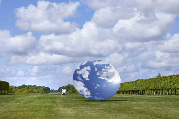 Sky Mirror, 2018, stainless steel. Eight Eight, 2004, onyx. Courtesy the artist and Lisson Gallery. © Anish Kapoor. All rights reserved DACS, 2020 Photo: Pete Huggins