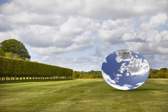 Sky Mirror, 2018, stainless steel. Courtesy the artist and Lisson Gallery. © Anish Kapoor. All rights reserved DACS, 2020 Photo: Pete Huggins