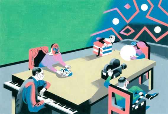 Una illustrazione di Antonio Pronostico per L'Espresso. Courtesy l'artista