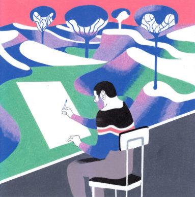 Una illustrazione di Antonio Pronostico per Lo Spazio Bianco. Courtesy l'artista