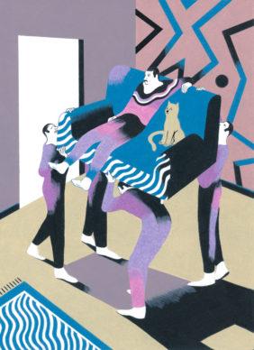 Una illustrazione di Antonio Pronostico per America Magazine. Courtesy l'artista