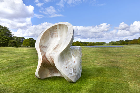 Eight Eight, 2004, onyx. Courtesy the artist and Lisson Gallery. © Anish Kapoor. All rights reserved DACS, 2020 Photo: Pete Huggins