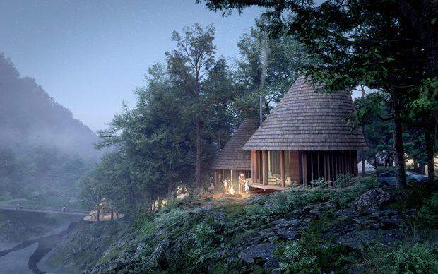 Sustainable Cabins in the Woods ©Third Nature | Structured Environment | Henrik Innovation