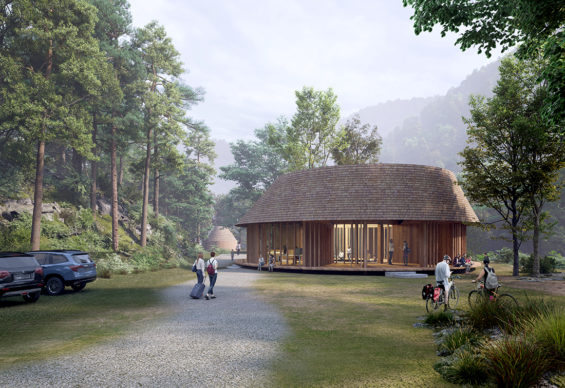 Arriving at the Center House ©Third Nature | Structured Environment | Henrik Innovation