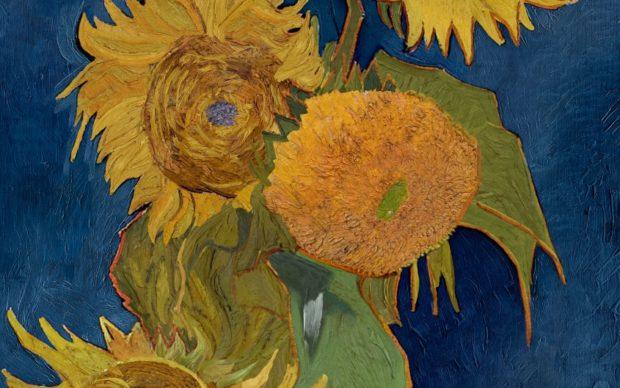 Foto Vaso con cinque girasoli_Vincent van Gogh_Rimaterializzazione by Factum Arte