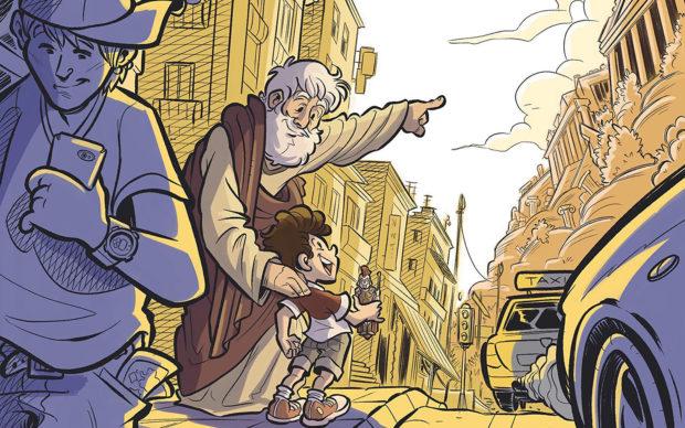 In viaggio con Aristotele Memorie di un padre alla ricerca della Grecia più autentica Emanuele Apostolidis e Elisa Tadiello Beccogiallo 2020