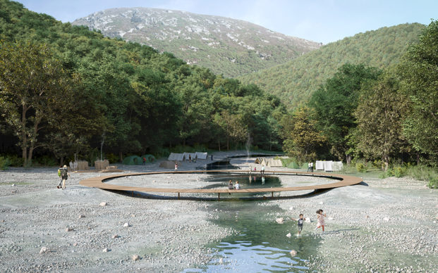 Landscape bridge across river ©Third Nature   Structured Environment   Henrik Innovation