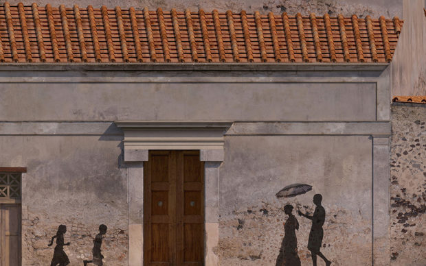 Reconstitution rue pompéienne © GEDEON Programmes