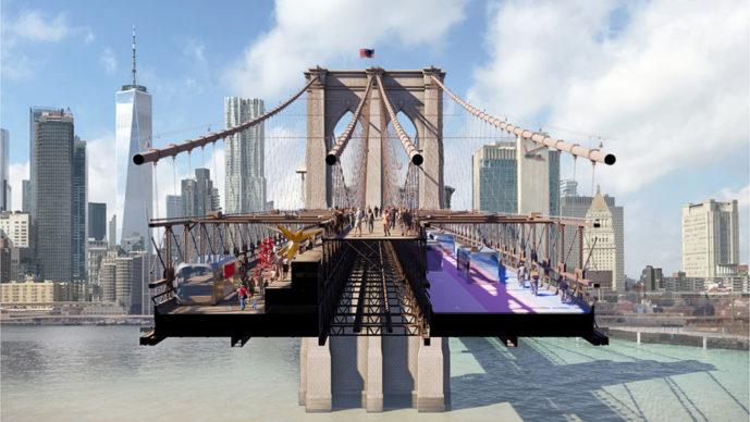 Reimagining Brooklyn Bridge— Back to the Future — BIG + ARUP, New York. Courtesy Van Alen Institute