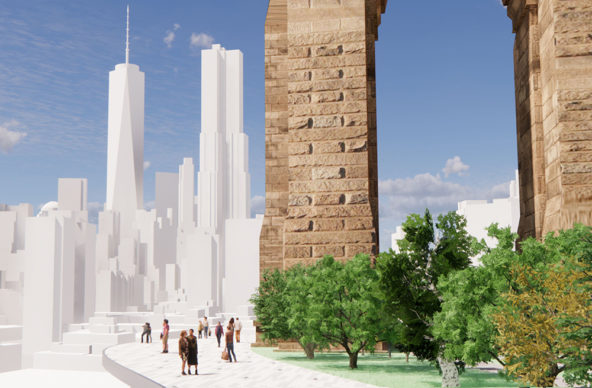 Reimagining Brooklyn Bridge— The Artery — Lukas Kugler, New Milford, CT. Courtesy Van Alen Institute
