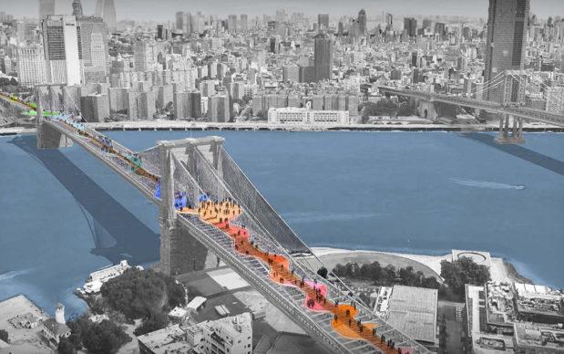 Reimagining Brooklyn Bridge— The Cultural Current — Aubrey Bader and Maggie Redding, Knoxville, TN. Courtesy Van Alen Institute