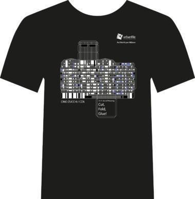 Architetti per Milano, la t-shirt disegnata da Cino Zucchi. Courtesy Urbanfile
