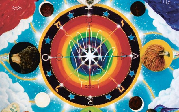 Tarot, pag. 220. The Wheel of Fortune Cathy McClelland, The Star Tarot Deck, 2017 Copyright © Cathy McClelland