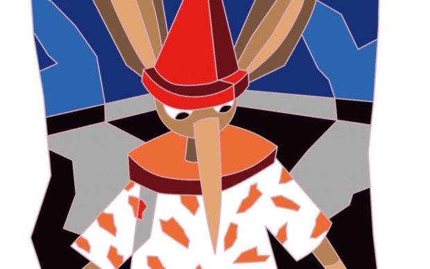 Un dettaglio della locandina della mostra My Dear Pinocchio at Hangaram Art Museum, Seul, courtesy Ugo Nespolo