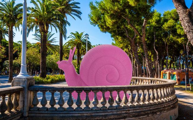Lungomare di Porto d'Ascoli, Chiocciola rosa. Render courtesy Cracking Art