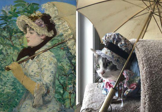 Édouard Manet, Jeanne (Spring), 1881; Re-creation Jeannette Hulick