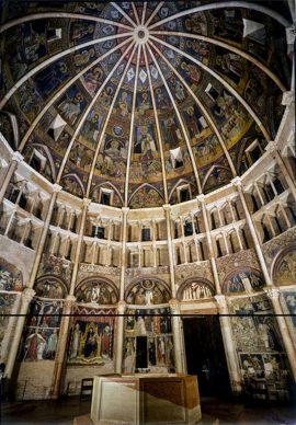 Parma, interno del Battistero. Foto Amoretti Parma