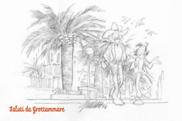 Progetto Saluti da Grottammare, la cartolina di Giorgio Cavazzano, 2017