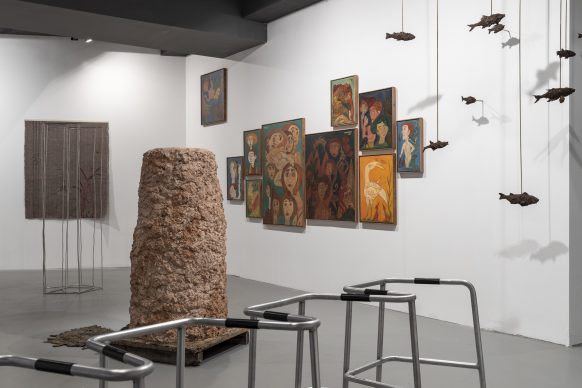 Exhibition view at Sala Trenker, Biennale Gherdëina 7. Photo Tiberio Sorvillo / L. Guadagnini