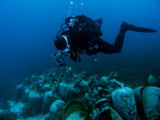 Photo Alonissos underwater museum. Copyrights Ministry of Culture and Sports-Ephorate of Underwater Antiquities, phot. K. Menemenoglou