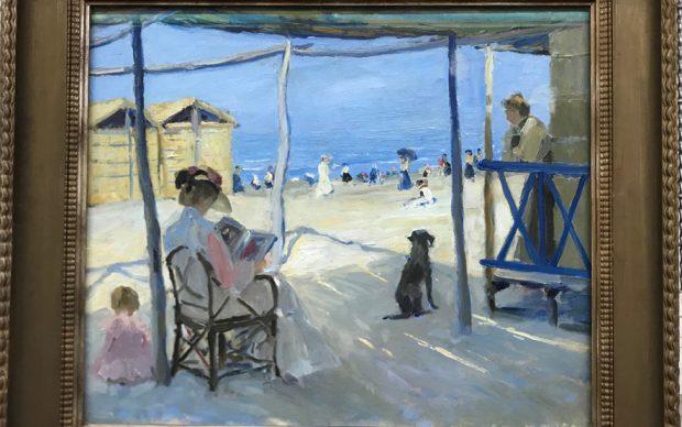 Philipp KLEIN, Sulla spiaggia di Viareggio, 1906, olio su tela (© Landesmuseum Hannover)