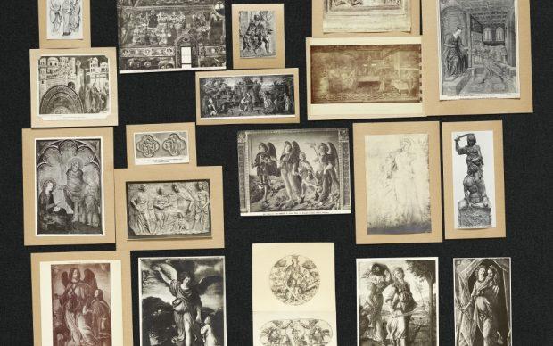 Aby Warburg, Bilderatlas Mnemosyne, panel 47 (recovered), photo Wootton fluid; Courtesy The Warburg Institute, London